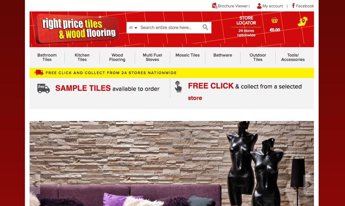 Web Design Cork Right Priced Tiles